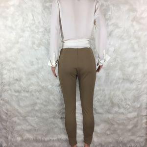 5d1767398f0004 Lysse Pants | Camel Leggings Faux Leather Side Panels L | Poshmark
